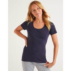 Boden Navy Kurzärmeliges Basic-T-Shirt Damen Boden, S, Navy