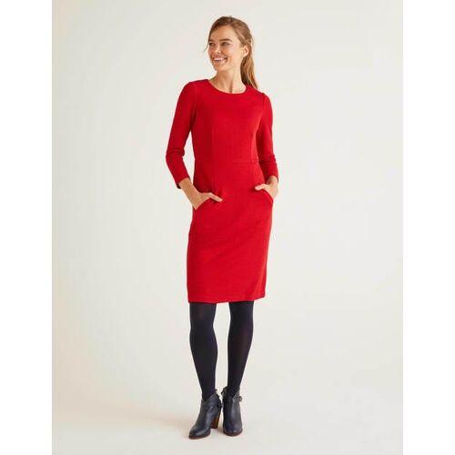 Boden Rot Jacquard-Kleid mit Wabenmuster Damen Boden, 40 R, Red