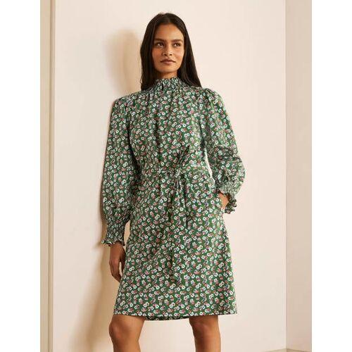 Boden Ackerbohnengrün, Filigranes Muster Ellie Smokkleid Damen Boden, 38 R, Green