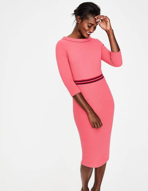 Boden Gartenrose Daisy Ottoman-Kleid Damen Boden, 46 L, Pink