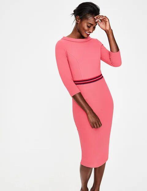Boden Gartenrose Daisy Ottoman-Kleid Damen Boden, 42 L, Pink