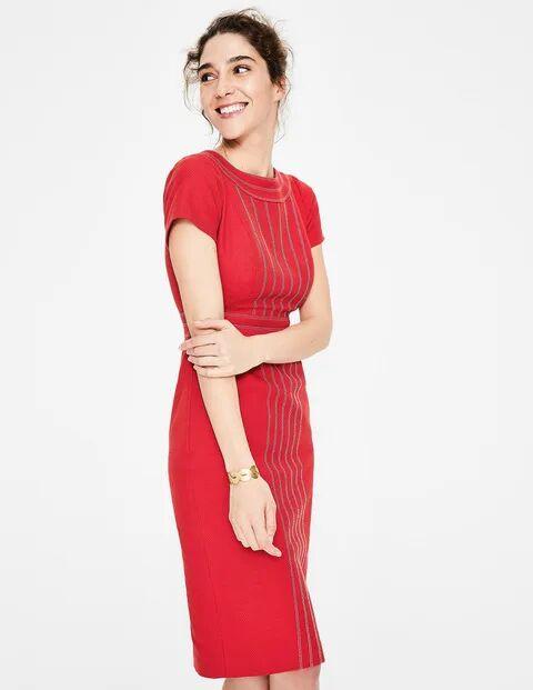 Boden Rot Kitty Strukturiertes Kleid Damen Boden, 34 PET, Red