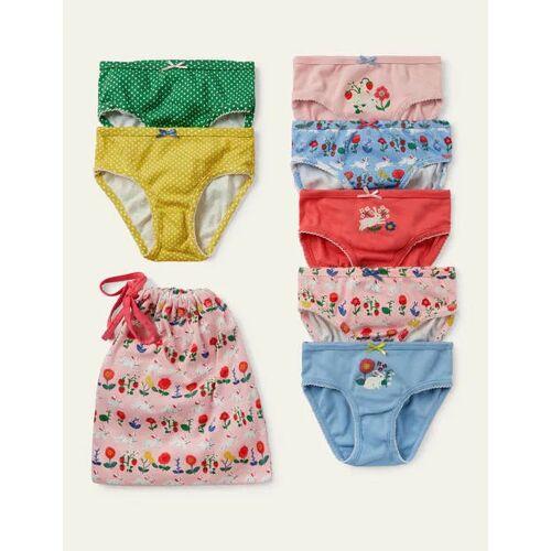 Mini Bunt, Hasen Unterhosen im 7er-Pack Mädchen Boden, 140, Multi