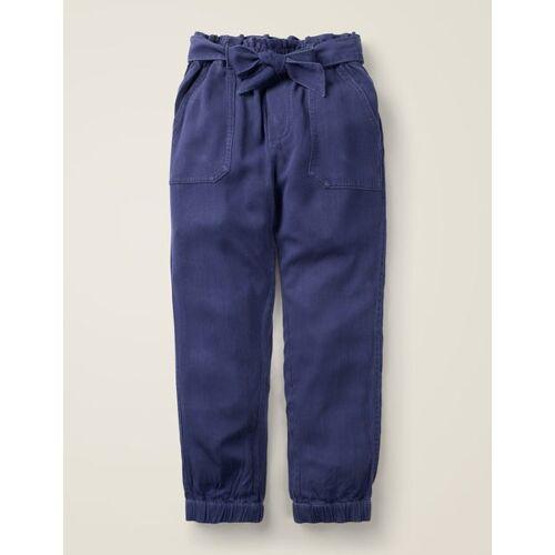 Johnnie b Navy Hose mit Bindegürtel Mädchen Boden, 122, Blue