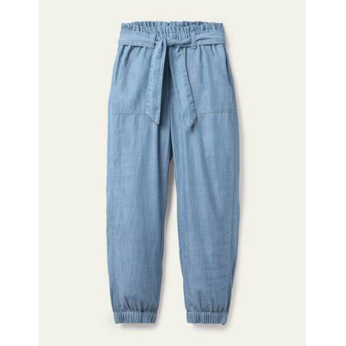 Johnnie b Weiß Hose mit Bindegürtel Mädchen Boden, 122, Blue