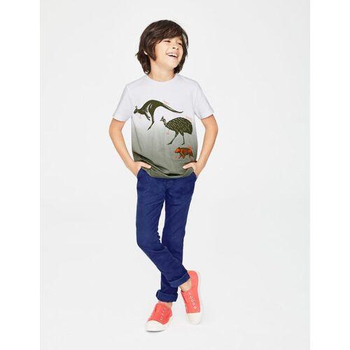 Mini Armeegrün, Dip-Dye, Tiermotive Dip-Dye-T-Shirt mit Tiermotiv Jungen Boden, 104, Green