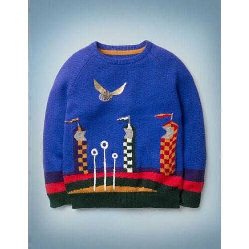 Mini Blau Pullover mit Quidditch-Motiv Jungen Boden, 104, Blue
