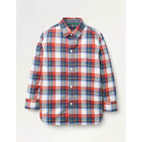 Mini Rot Lässiges Twill-Hemd Jungen Boden, 164, Red