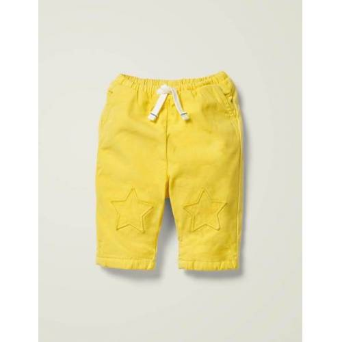 Baby Narzissengelb Hose mit Knieaufnäher Baby Baby Boden, 68, Yellow