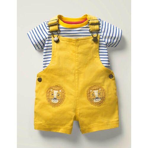 Baby Narzissengelb, Löwen Latzhosen-Set mit Taschentieren Baby Baby Boden, 62, Yellow
