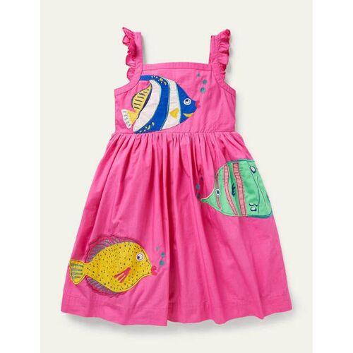 Mini Rosa Kleid mit Fischmotiv Mädchen Boden, 104, Pink