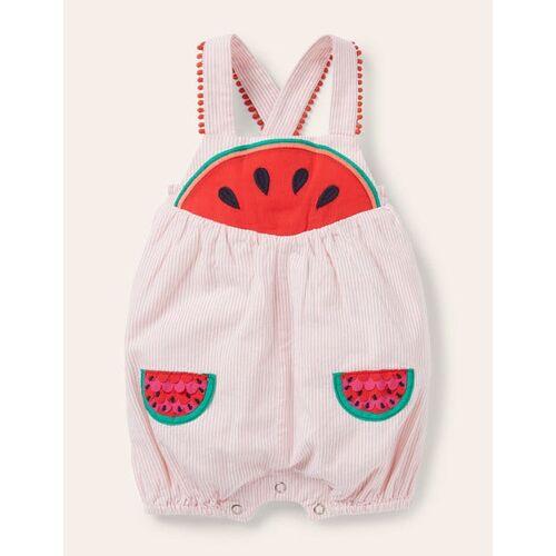 Baby Limonadenrosa, Wassermelonen Fröhlicher Strampler mit feinen Streifen Baby Baby Boden, 62, Pink