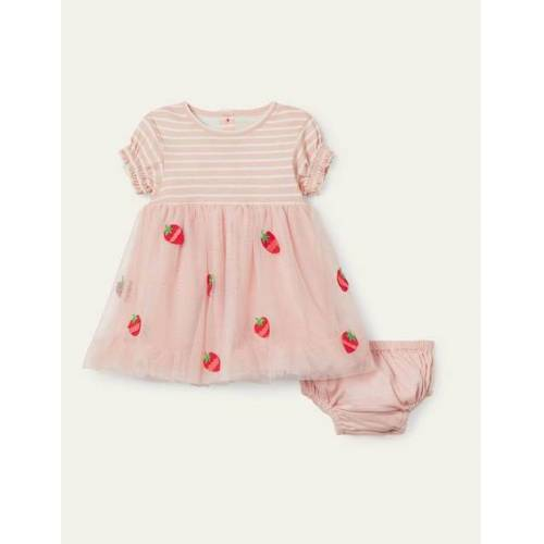 Baby Provence-Altrosa Tüllkleid mit Erdbeermotiv Baby Baby Boden, 86, Pink