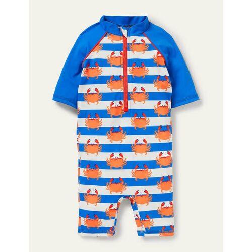 Baby Poolblau, Krabben Sonnensicherer Surfanzug mit Muster Baby Baby Boden, 86, Blue