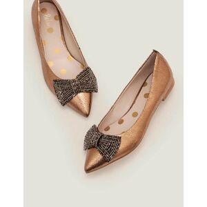 Boden Bronze-Metallic Adelaide flache Schuhe mit Juwelen Damen Boden, 37, Gold