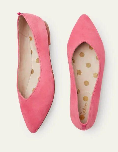 Boden Bonbonrosa Julia Flache Pumps mit spitzer Zehenpartie Damen Boden, 36, Pink