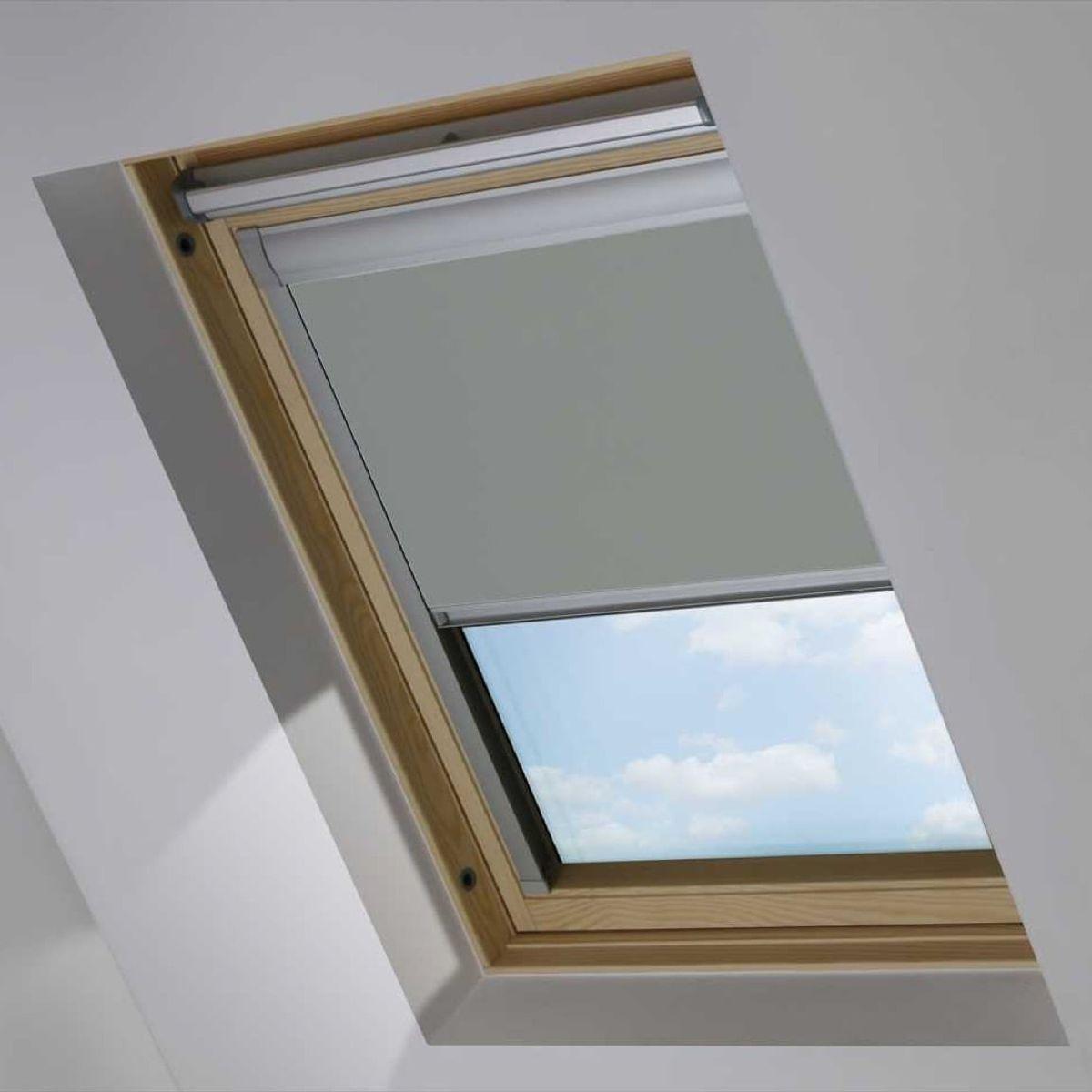 Ouro Dachfensterrollo für Roto 649 HOLZ 7/11, Smouldering Charcoal