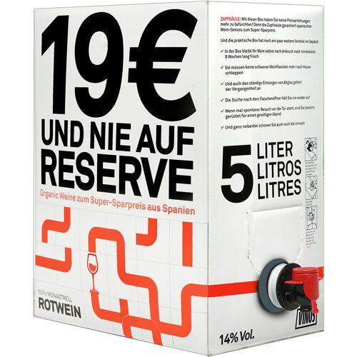 Projekt Krisenbox Zapfsäule - 5 Liter BiB 14% Vol. Rotwein Trocken aus Spanien