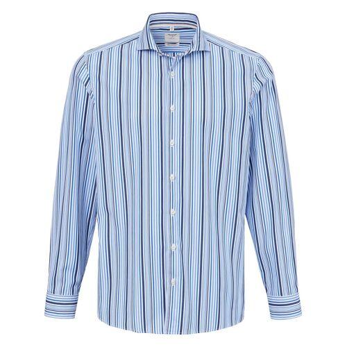 Olymp Hemd modernem Haifischkragen Olymp blau