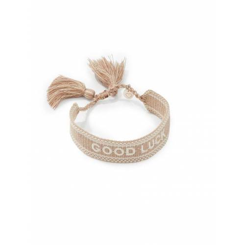Lua Accessoires Armband To the moon GOOD LUCK Lua Accessoires beige