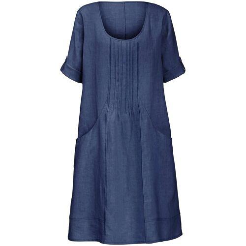 Anna Aura Kleid aus 100% Leinen 3/4-Arm Anna Aura blau