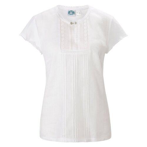 Hammerschmid Blusen-Shirt zum Schlupfen aus 100% Leinen Hammerschmid weiss