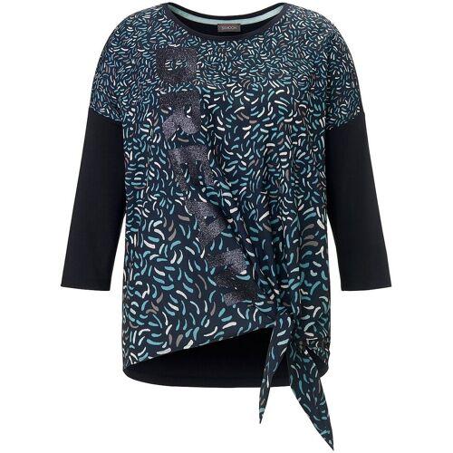 Samoon Blusen-Shirt 3/4-Arm Samoon blau