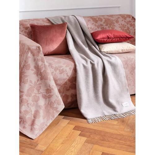 Peter Hahn Überwurf für Sofa u. Bett ca. 250x270 cm Peter Hahn rosé