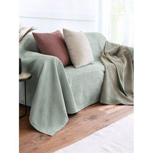 Peter Hahn Überwurf für Sessel und Einzelbett ca. 250x270cm Peter Hahn grün