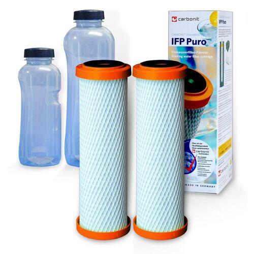 Carbonit 2x IFP Puro, Carbonit Monoblock, 2 Gratis Trinkflaschen