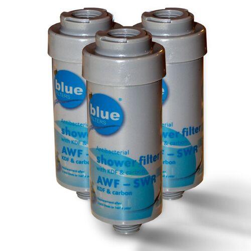 Bluefilters 3x Duschfilter Bluefilter, Wasserfilter zum Wohle Ihrer Haut