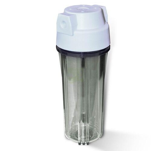 N.N. 25,4cm (10 Zoll) Wasserfiltergehäuse, Umkehrosmose, weiss/klar