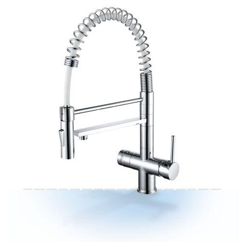 Wasserstelle GmbH Design-Drei-Wege-Wasserhahn Garda mit Handbrause, 3-Wege-Wasserhahn