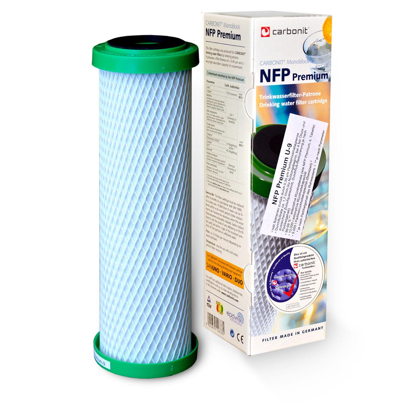 Carbonit Aktivkohle NFP Premium U-9 Wasserfilter Ersatzpatrone