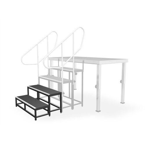 lightmaXX - ALU-STAGE Treppenstufe 40 2 Stufen, 20cm/40cm