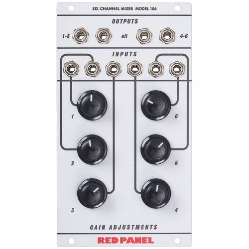 Red Panel - Model 106 6-Channel Mixer