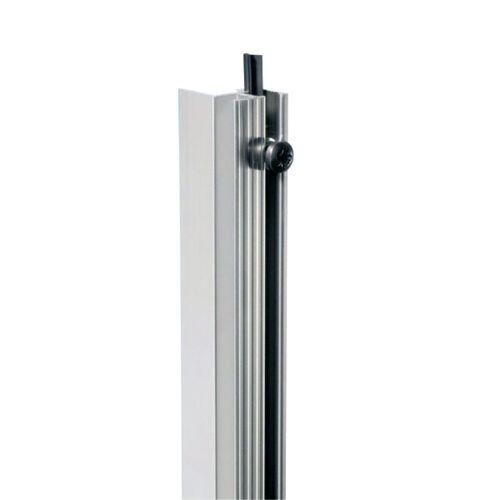 Adam Hall - 6162 Rackschiene Aluminium stufenlos, mit Gummikeder 1 M