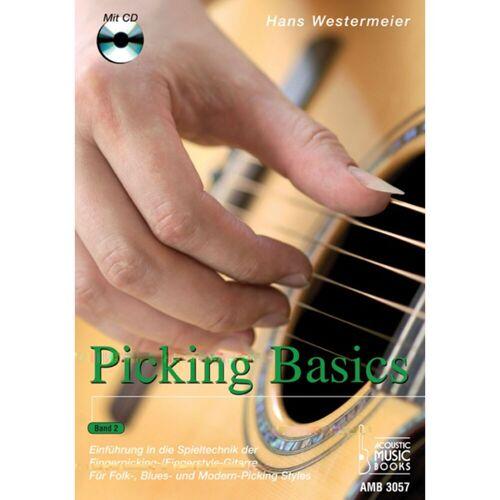 Acoustic Music Books - Picking Basics 2 für Gitarre Hans Westermeier, Buch/CD