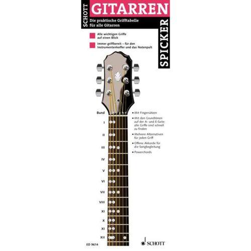 Schott Music - Gitarren-Spicker Grifftabelle für Gitarren