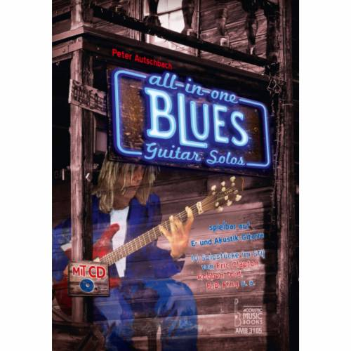 Acoustic Music Books - All in One Blues Guitar Solos für E- und Akustik-Gitarre