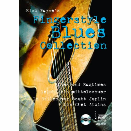Acoustic Music Books - Fingerstyle Blues Collection Rick Payne, Gitarre, mit CD