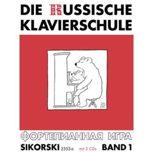Hans Sikorski - Die Russische Klavierschule 1 A. Nikolajew, Buch & 2CDs
