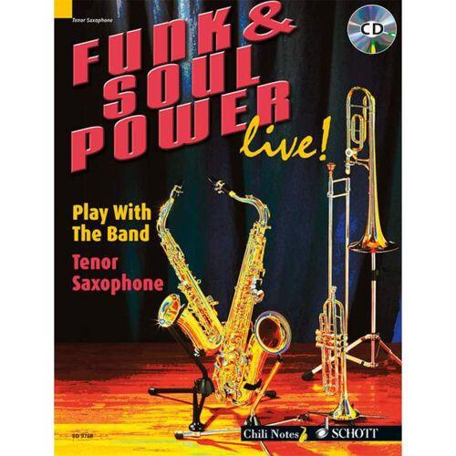 Schott Music - Funk & Soul Power Tenor Saxoph Dechert, Buch und Playalong CD