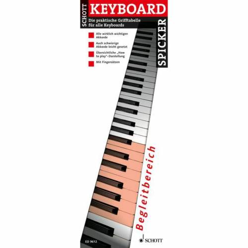Schott Music - Keyboard-Spicker Grifftabelle für Keyboard