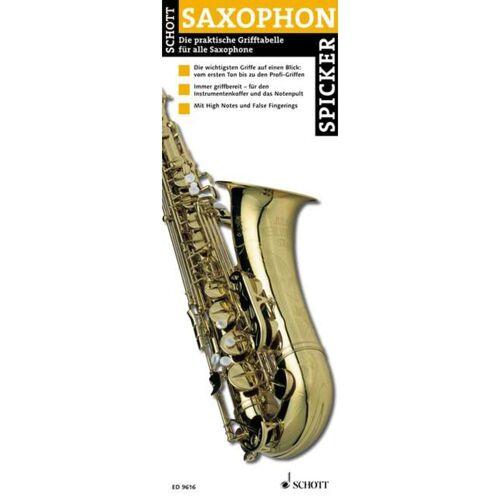 Schott Music - Saxophon-Spicker Grifftabelle für Saxophon