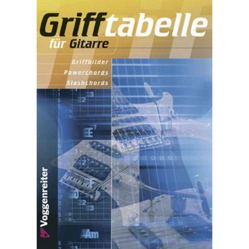 Voggenreiter - Grifftabelle für Gitarre