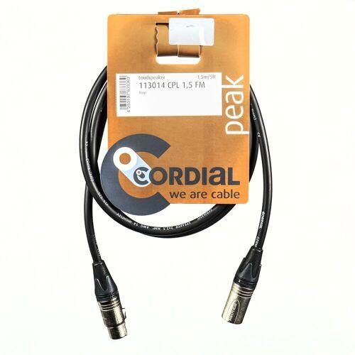 Cordial - CPL 1.5 FM Lautsprecherkabel XLR 1,5 m