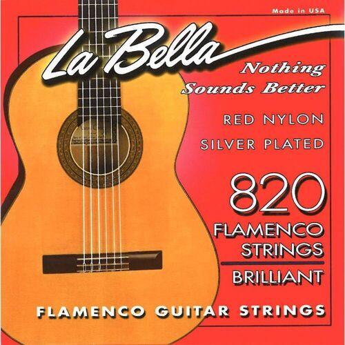 La Bella - 820 Nylon Saiten Flamenco Red Nylon Silver