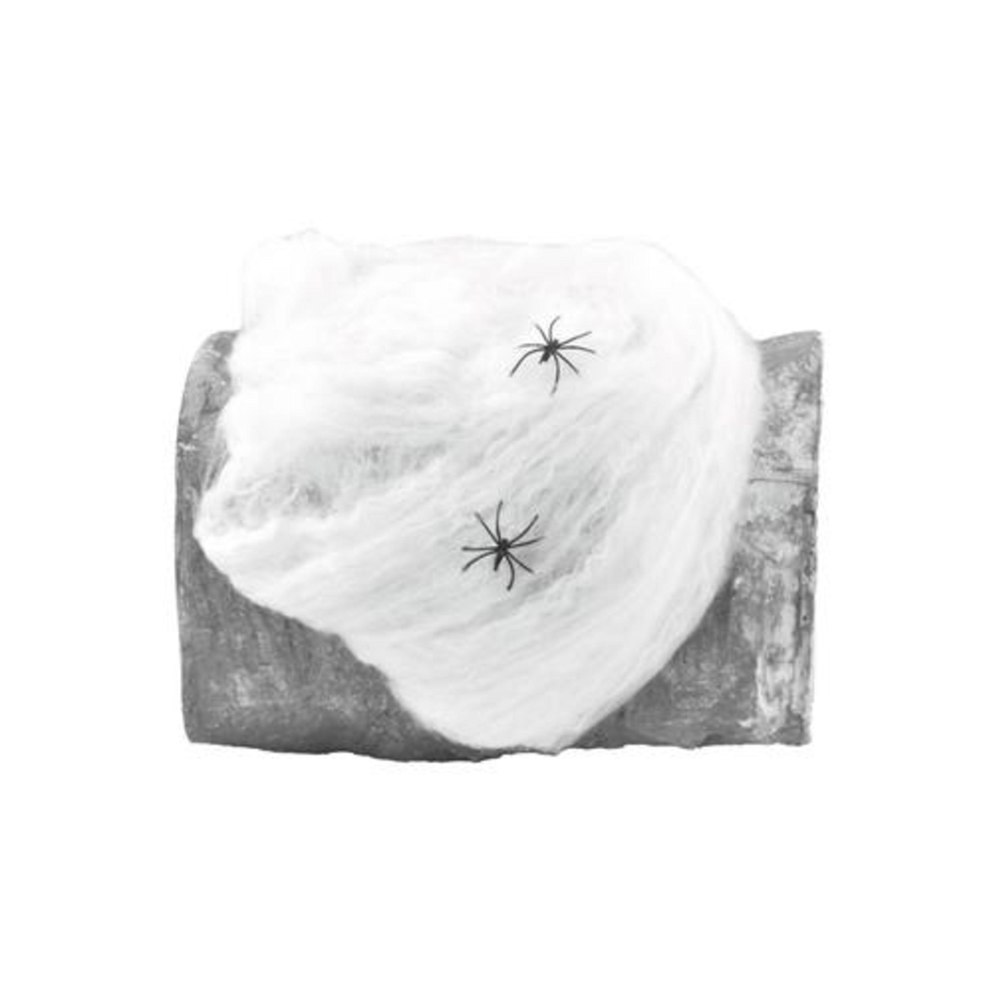 Europalms - Halloween Spinnennetz weiß 50g, UV-aktiv