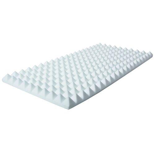 MUSIC STORE - Pyramis Absorber 50x100x 10 cm Basotect, weiß, selbstklebend